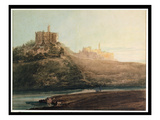 Warkworth Castle, Northumberland, C.1798 (W/C, Gouache and Pencil on Paper Laid on Card) Giclee Print by Thomas Girtin