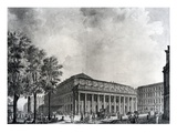 View of the Grand Theatre, Bordeaux (Gouache on Paper) (B/W Photo) Giclee Print by James Basire