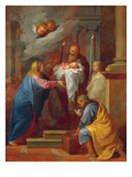 The Presentation in the Temple (Oil on Canvas) Giclee Print by Charles de Lafosse