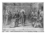 Life of Christ, Incredulity of St. Thomas, Preparatory Study of Tapestry Cartoon Giclee Print by Henri Lerambert