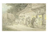 The Waggoner's Rest, C.1800-05 (Pen and Ink and W/C over Pencil on Paper) Giclee Print by Thomas Rowlandson