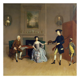 John Orde, with His Wife Anne, and His Eldest Son, William, of Morpeth, Northumberland, C.1754-56 Giclee Print by Arthur Devis