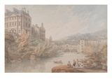 View of Bath from Spring Gardens (W/C with Pen and Grey Ink over Graphite on Wove Paper) Giclee Print by Thomas Hearne