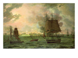 The Bombing of Cadiz by the French on 23rd September 1823, 1824 Giclee Print by Louis Philippe Crepin