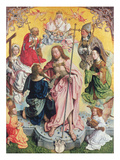Central Panel from the St. Thomas Altarpiece, 1501, Christ and Saint Thomas Surrounded by St.Helena Giclee Print by  Master of St. Bartholemew