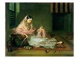 Muslim Lady Reclining, 1789 (Oil on Canvas) Giclee Print by Francesco Renaldi