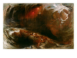 The Deluge, 1834 (Oil on Canvas) Giclee Print by John Martin
