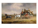 Mail Coaches on the Road: the Louth-London Royal Mail Progressing at Speed Giclee Print by Charles Cooper Henderson