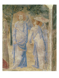 Angels from the Chapel of St. Jean, 1347 (Fresco) Giclee Print by Matteo Giovanetti