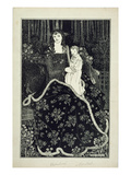 A Large Christmas Card, 1895 (Line Block Print) Giclee Print by Aubrey Beardsley
