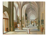 Church Interior Giclee Print by Hendrik van Steenwyck