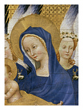 Virgin and Child, C.1395-99 (Egg Tempera on Oak) (Detail of 3028) Giclee Print by  Master of the Wilton Diptych