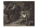 The Cave of Despair, from Spenser, Engraved by Valentine Green (1739-1813) 1775 (Mezzotint) Giclee Print by Benjamin West