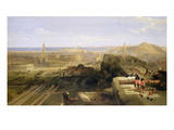 Edinburgh from the Castle, 1847 (Oil on Canvas) Giclee Print by David Roberts