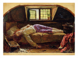 The Death of Chatterton, C.1856 (Oil on Panel) Giclee Print by Henry Wallis