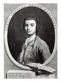 Carlo Broschi, 1735 (Line Engraving) Giclee Print by Jacapo Amigoni