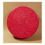 Red Lacquer Box Decorated with Peonies, C.1426-35 (Lacquer on Wood) (See also 52020) Giclee Print by  Chinese