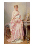 Girl in a Pink Dress Giclee Print by Charles Chaplin