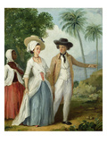 A Planter and His Wife, Attended by a Servant, c.1780 Giclee Print by Agostino Brunias
