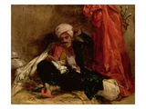A Seated Turk, 1826 (Oil on Canvas) Giclee Print by Richard Parkes Bonington