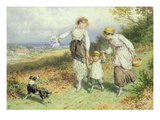 Returning from the Village, 19th Century Giclee Print by Myles Birket Foster