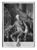 Charles Gravier, Count of Vergennes, Engraved by Vicenzio Vangelisti (1738-98) C.1774 Giclee Print by Antoine Francois Callet