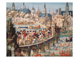 The Royal Entry Festival of Henri II (1519-59) into Rouen, 1st October 1550 Giclee Print by  French