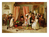 Children Acting the 'Play Scene', Act Ii, Scene Ii, from 'Hamlet', 1863 (Oil on Canvas) Giclee Print by Charles Hunt