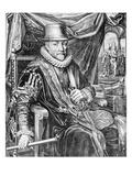 William I, Prince of Orange, Engraved by Willem Jacobsz Delff, 1623 (Engraving) Giclée-Druck von Adriaen Pietersz van de Venne