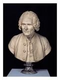 Bust of Jean Jacques Rousseau (1712-78) (Terracotta) Giclee Print by Jean-Antoine Houdon
