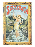 Poster Advertising 'Seltzbach' Pure Natural Mineral Water from the Seltzbach Springs Giclee Print by  English