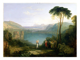 Lake Avernus: Aeneas and the Cumaean Sibyl, c.1814-5 Giclee Print by Joseph Mallord William Turner