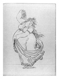 The Muse of Dance, Plate VI from a New Edition Considerably Enlarged of Lady Hamilton's 'Attitudes' Giclee Print by Frederich Rehberg