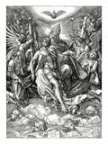 The Holy Trinity, 1511 (Woodcut) Giclee Print by Albrecht Dürer