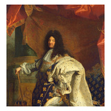 Louis XIV in Royal Costume, 1701 (Detail) Giclee Print by Hyacinthe Rigaud