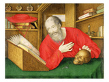 St. Jerome in His Study, 1650 (Bodycolour and W/C on Vellum) Giclee Print by Alexander Marshal