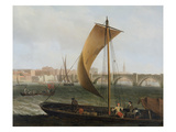 View on the Thames with Westminster Bridge, c.1743-44 Giclee Print by Samuel Scott