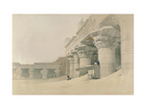 Temple of Horus, Edfu, from 'Egypt and Nubia', Engraved by Louis Haghe (1806-85) Giclee Print by David Roberts