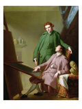 Peter and James Romney, 1766 (Oil on Canvas) Giclee Print by George Romney