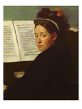 Mademoiselle Marie Dihau (1843-1935) at the Piano, c.1869-72 Giclee Print by Edgar Degas