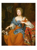 Portrait of a Lady in a Red Dress, 1691 Giclee Print by Thomas van der Wilt