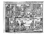 A Duel Between Two Sisters Near Bordeaux, 1650 (Woodcut) (B/W Photo) Giclee Print by  French