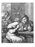 Interior of an Inn, Etched by Coryn Boel (Etching) Giclee Print by David the Younger Teniers