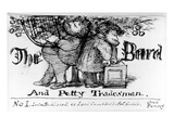 The Bard and Petty Tradesman, 1868 (Pen and Ink on Paper) Giclee Print by Dante Charles Gabriel Rossetti