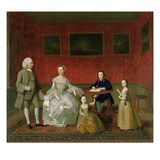 The Buckley-Boar Family, c.1758-60 (Formerly Attr. to Arthur Devis) Giclee Print by  English