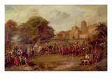Visit of King James I to Hoghton Tower in 1617 Giclee Print by George Cattermole
