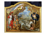 Allegory of the Power of Great Britain by Sea, Design for a Decorative Panel Giclee Print by Sir James Thornhill