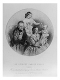 Thomas De Quincey and His Family, 1855 (Engraving) Giclee Print by James Archer