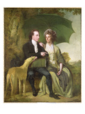 The Rev. and Mrs Thomas Gisborne, of Yoxhall Lodge, Leicestershire, 1786 Giclee Print by Joseph Wright Of Derby