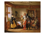 Slender, with the Assistance of Shallow, Courting Anne Page, from 'The Merry Wives of Windsor' Giclee Print by Charles Robert Leslie